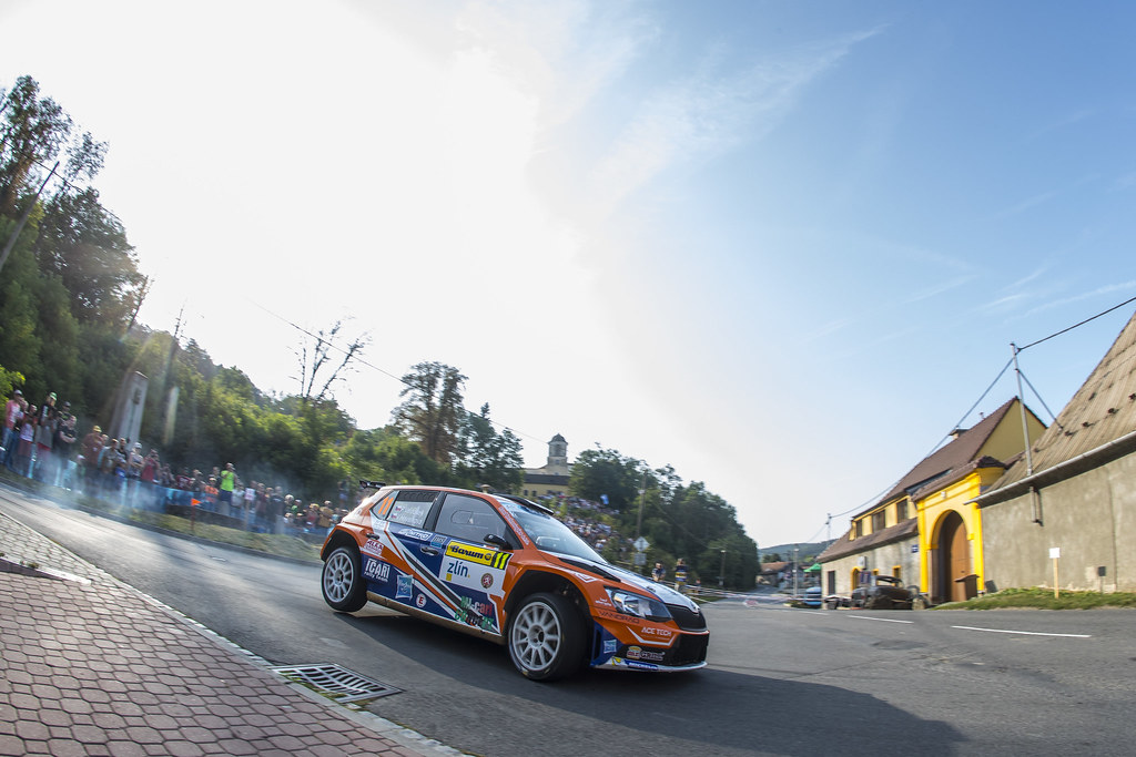 11 VALOUSEK Pavel (CZE) HAVELKOVA Veronika (CZE) Skoda Fabia R5 action during the 2017 European Rally Championship ERC Barum rally,  from August 25 to 27, at Zlin, Czech Republic - Photo Gregory Lenormand / DPPI