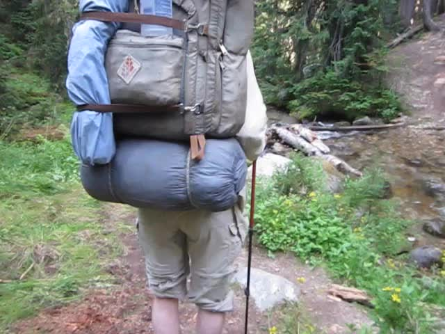 1841 Video of me crossing a branch of Small Creek as we head toward Middle Ridge on the Buck Creek Trail