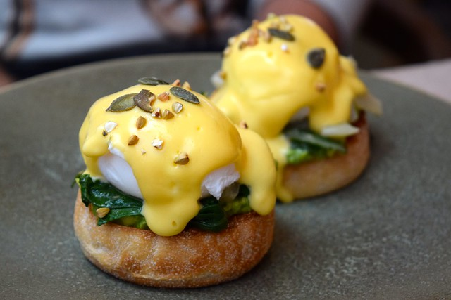 Avocado & Chard Florentine at Rail House Cafe, Victoria | www.rachelphipps.com @rachelphipps