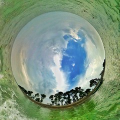 হাওর  #kishorgonj #haor #water #blue #green #littleplanet #littleworld #360 #360photo #village #bangladesh