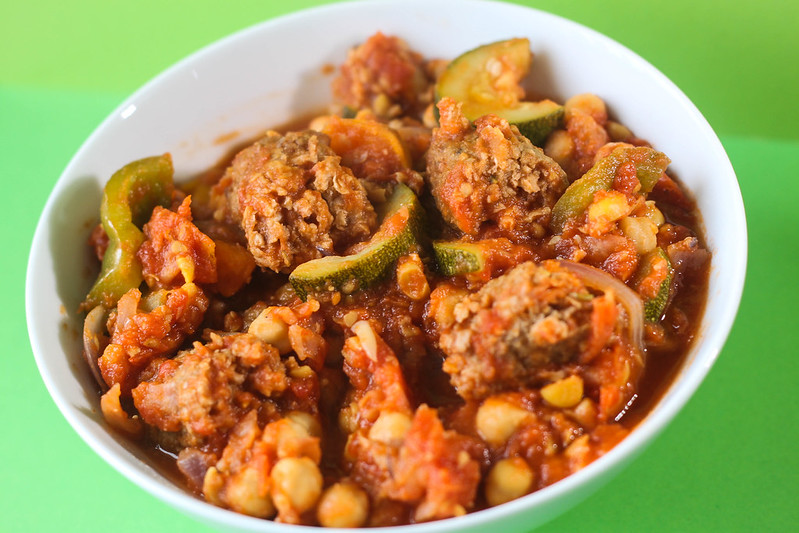 Easy vegetarian protein and calcium packed veggie sausage casserole recipe slimming world friendly