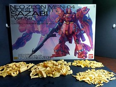MG Sazabi with Millenium Concepts resin upgrade kits.