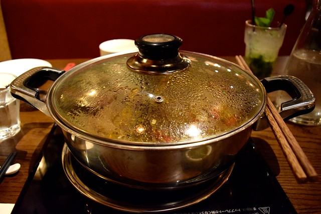 Simmering Broth at Hot Pot, Chinatown | www.rachelphipps.com @rachelphipps