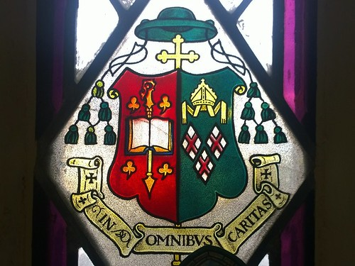 A Window depicting the Mayo Crest.