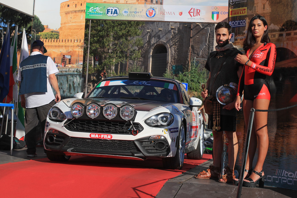21 NUCITA Andrea  (ITA)  VOZZO Marco (ITA) FIAT ABARTH 124 start during the 2017 European Rally Championship ERC Rally di Roma Capitale,  from september 15 to 17 , at Fiuggi, Italia - Photo Jorge Cunha / DPPI