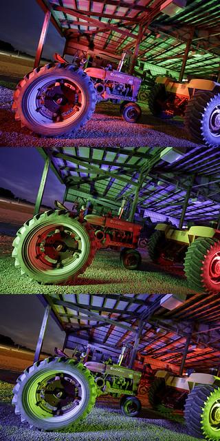 Farmall Tractor Triptych