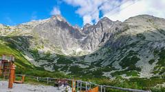 Skalnata Dolina, Łomnica (2634m) i nasz cel - Kieżmarski Szczyt 2536m