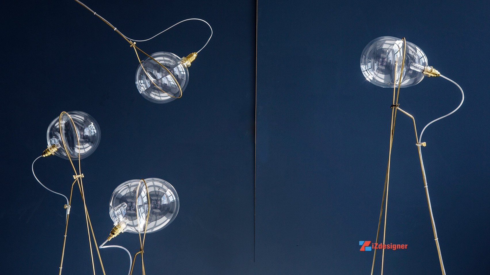 Những chiếc đèn sáng tạo bằng thủy tinh