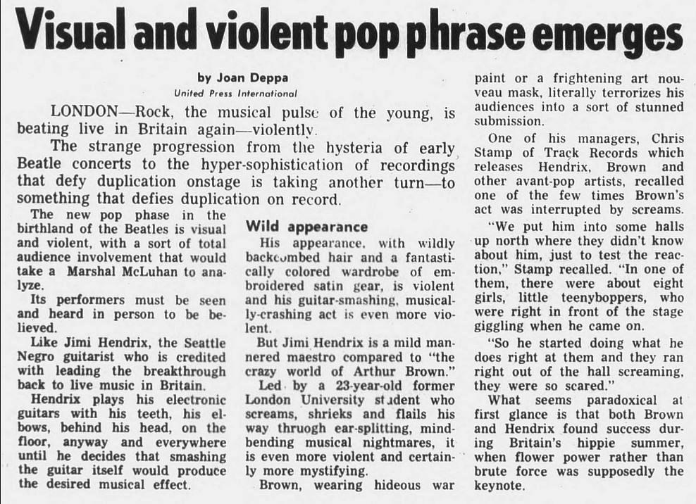 The Spectrum - Buffalo, New York 1967-11-07