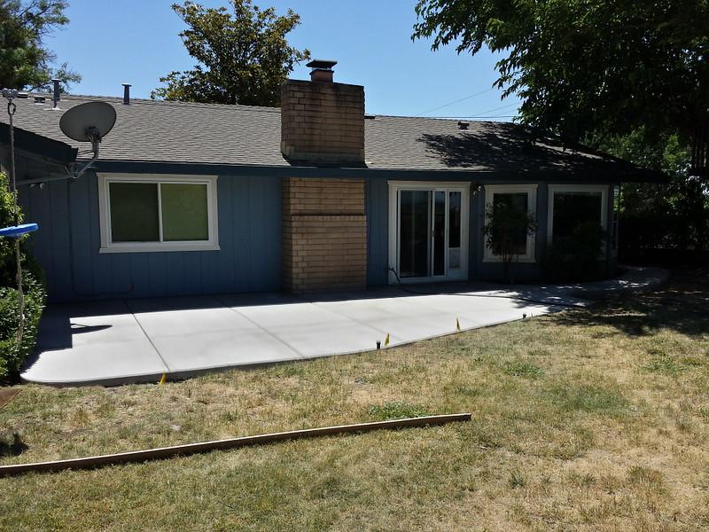 New Concrete Patio In Davis