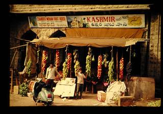 ハイデラバードの果物店