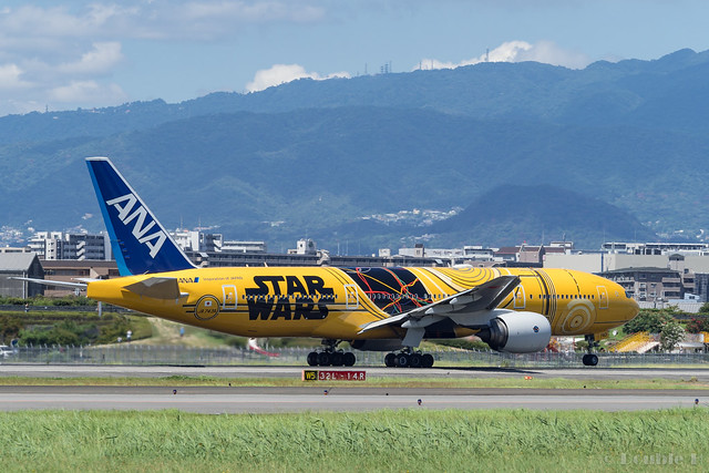 Itami Airport 2017.8.3 (42) JA743A / C-3PO ANA JET (B777-200)