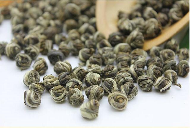 Free Shipping 2017 Jasmine Green Tea (Dragon Ball) High Flavor  Loose Tea 250g Chinese GuangXi  New tea   Premium  Flower tea