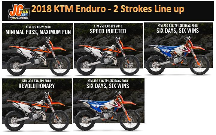 2018 ktm lineup. beautiful ktm in 2018 ktm lineup