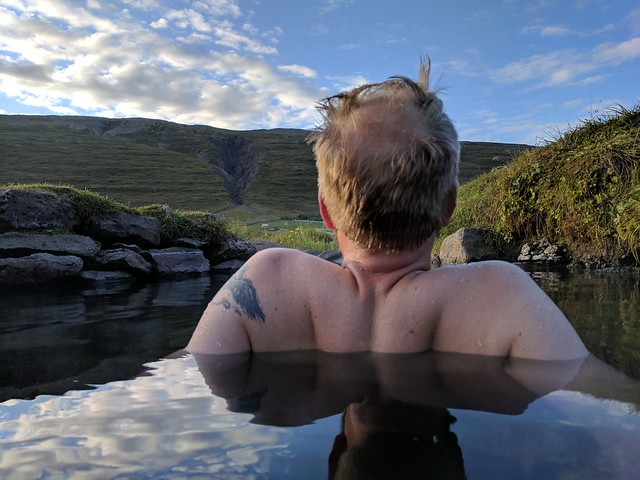 Doc in a West Fjords Hotspring
