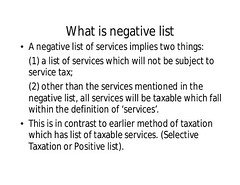 Negative List of GST