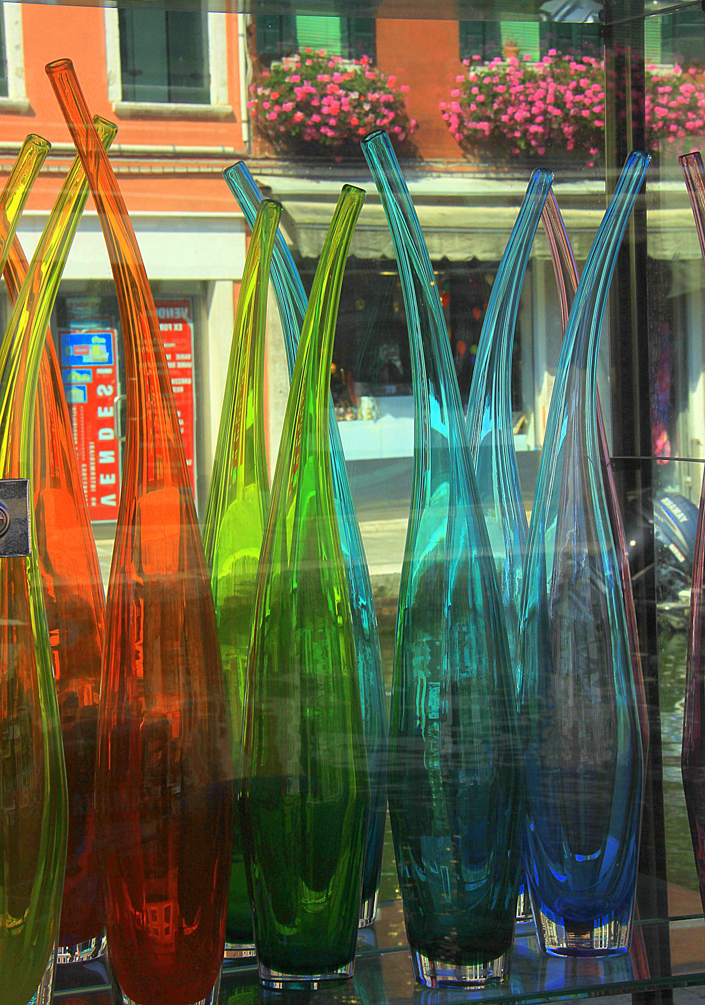 Shop window display at Murano