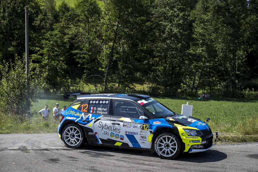 12 MICHEL Sylvain (FRA) DEGOUT jerome (FRA) Skoda Fabia R5 action during the 2017 European Rally Championship Rally Rzeszow in Poland from August 3 to 5 - Photo Gregory Lenormand / DPPI