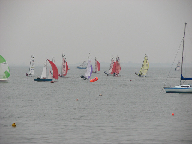 Yachts in the Thames Estuary at Leigh-on-Sea