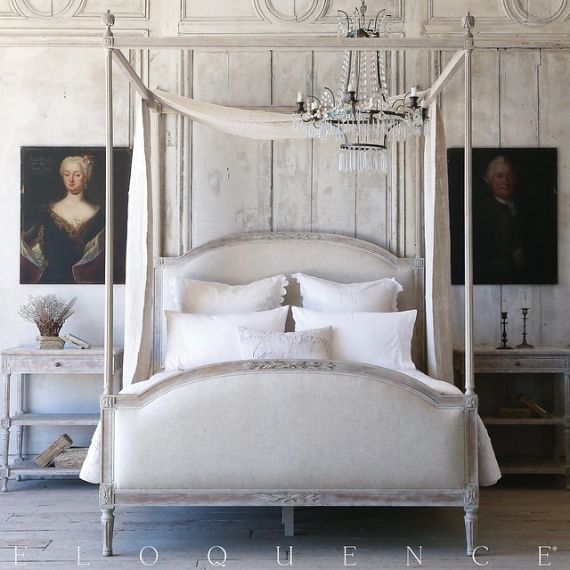 Dauphne Canopy Bed-Eloquence-Housepitality Designs