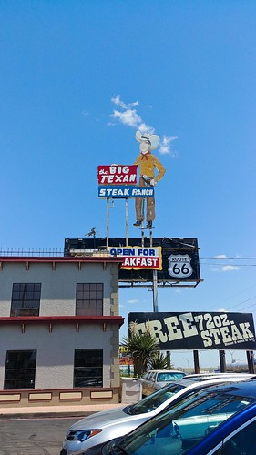 The Big Texan Steak Ranch - sign