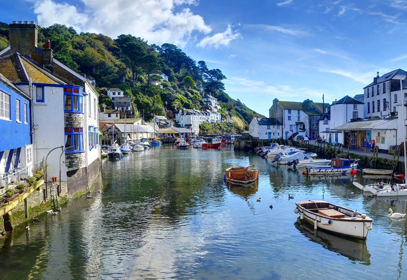 Polperro inner harbour, Cornwall. Credit Baz Richardson, flickr
