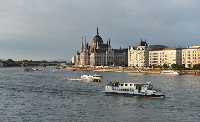 Cruising the Danube Early on a Summer Evening