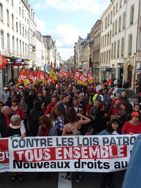 Manif contre la loi travail - Nancy - 12/09/17