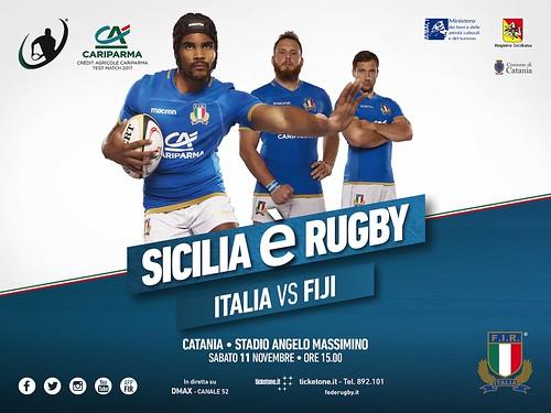 Rugby, presentata a Catania la sfida tra Italia e Fiji