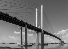 QE2 Bridge in mono