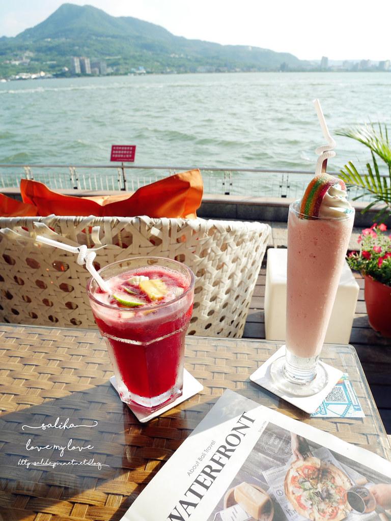 淡水老街景觀餐廳推薦榕堤水灣餐廳下午茶甜點咖啡 (2)