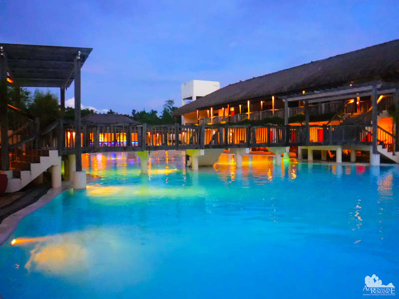 Bluewater Panglao Beach Resort Pool at Night