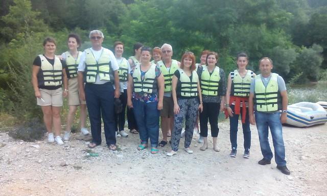 Raft on the Neretva river