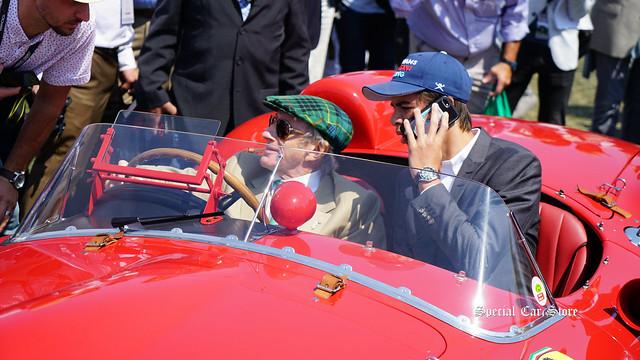 Jackie Stewart in 1957 Ferrari 315 S Scaglietti Spyder