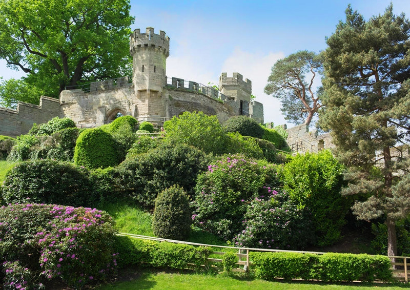 The Mound, Warwick Castle. Dating from 1068, this is the oldest part of the castle, which is a Grade I listed building in England. Credit DeFacto