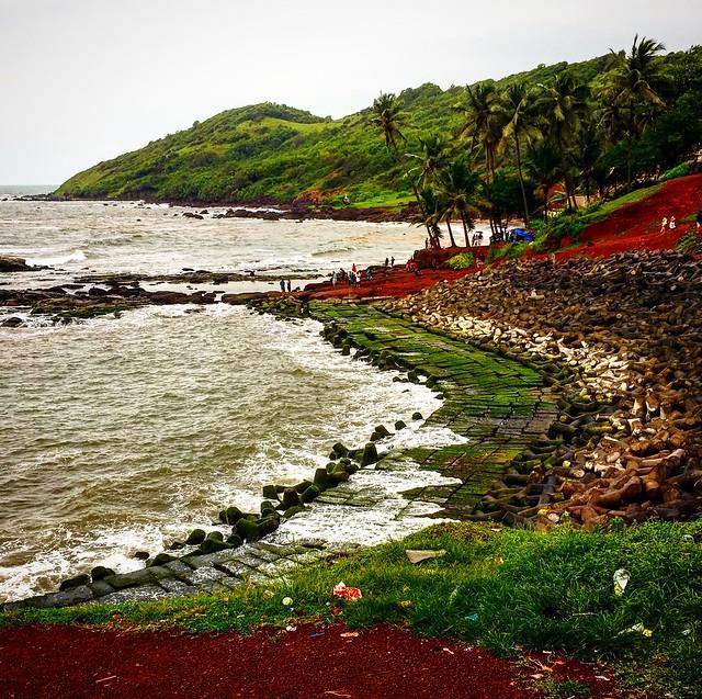 The Anjuna Beach at North Goa , a must visit seashore