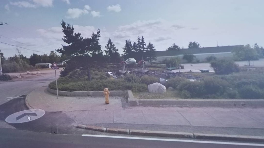 Plane in Ignace, ON. #ridingthroughwalls #xcanadabikeride #googlestreetview #ontario