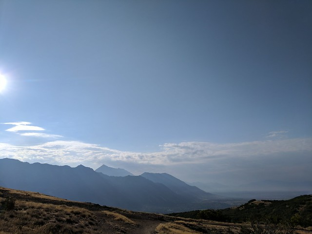 View of Mount Timpanogos from Lone Peak Wilderness