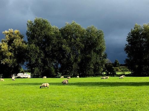 Retreating rain