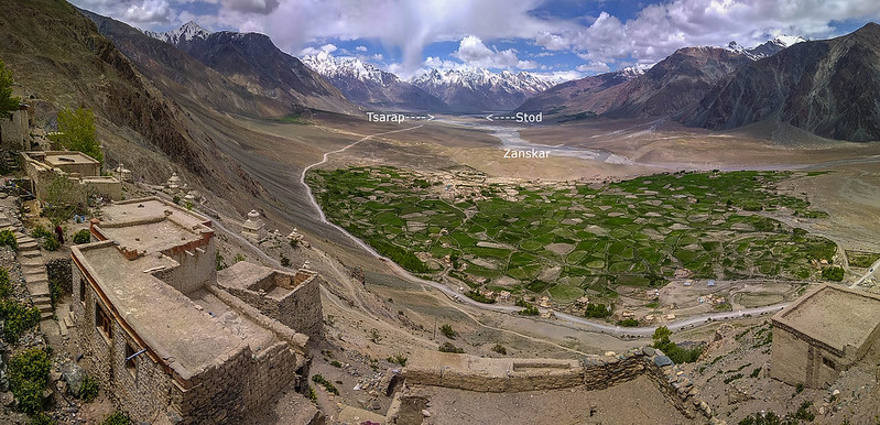 Based on a mountain ridge like a bow of a ship, Stongde Gompa is a witness to the confluence of Tsarap and Stod rivers emerging as Zanskar which flows further until it reaches Indus to the north of the valley