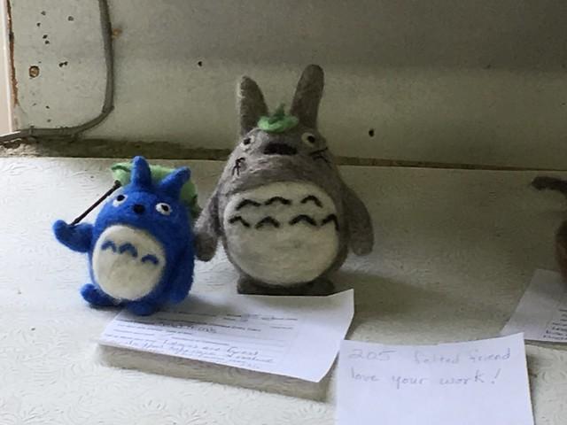 Needle-felted Totoro