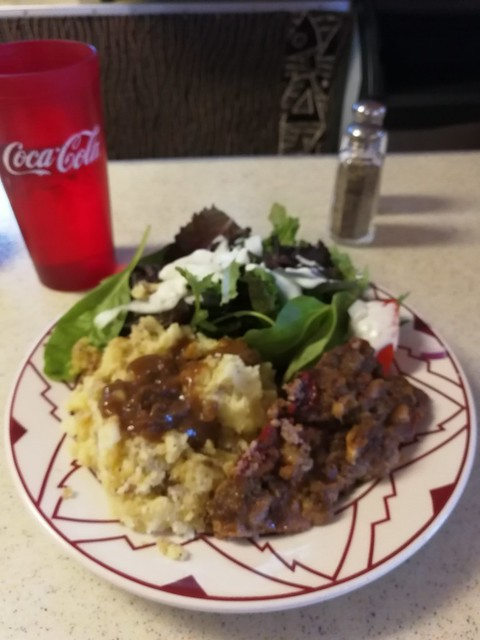 Tue, 07/11/2017 - 18:50 - Meatloaf and mashed potatoes - don't let the name throw you off, wonderful food!