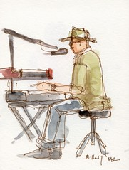 At the Davis Farmer's Market - Band Singer