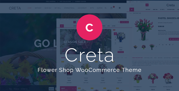 Creta v2.0 – Flower Shop WooCommerce WordPress Theme