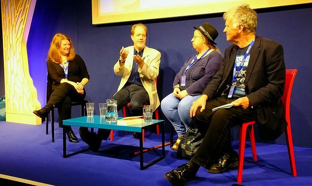Edinburgh International Book Festival 2017 - Farah Mendlesohn Adam Roberts Jo Walton & Ken MacLeod 06