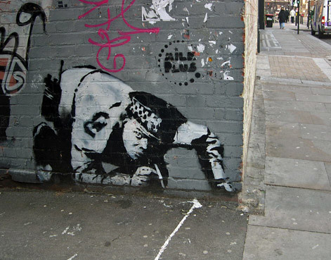 Snorting Copper, Curtain Rd, London - By Martin Bull - 18.3.2006