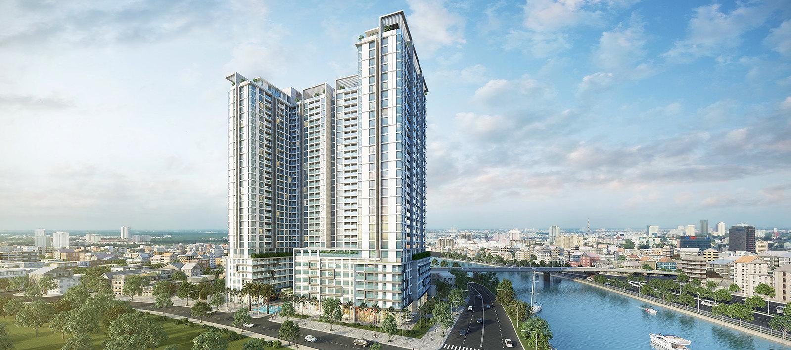 Phối cảnh tổng thể dự án căn hộ Masteri Millennium quận 4.