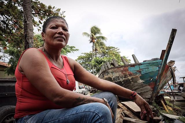 """Mudou muito. Antes era lama e casa flutuante"", conta moradora de Brasília Teimosa"