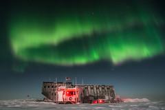 Circular Aurora over South Pole Station