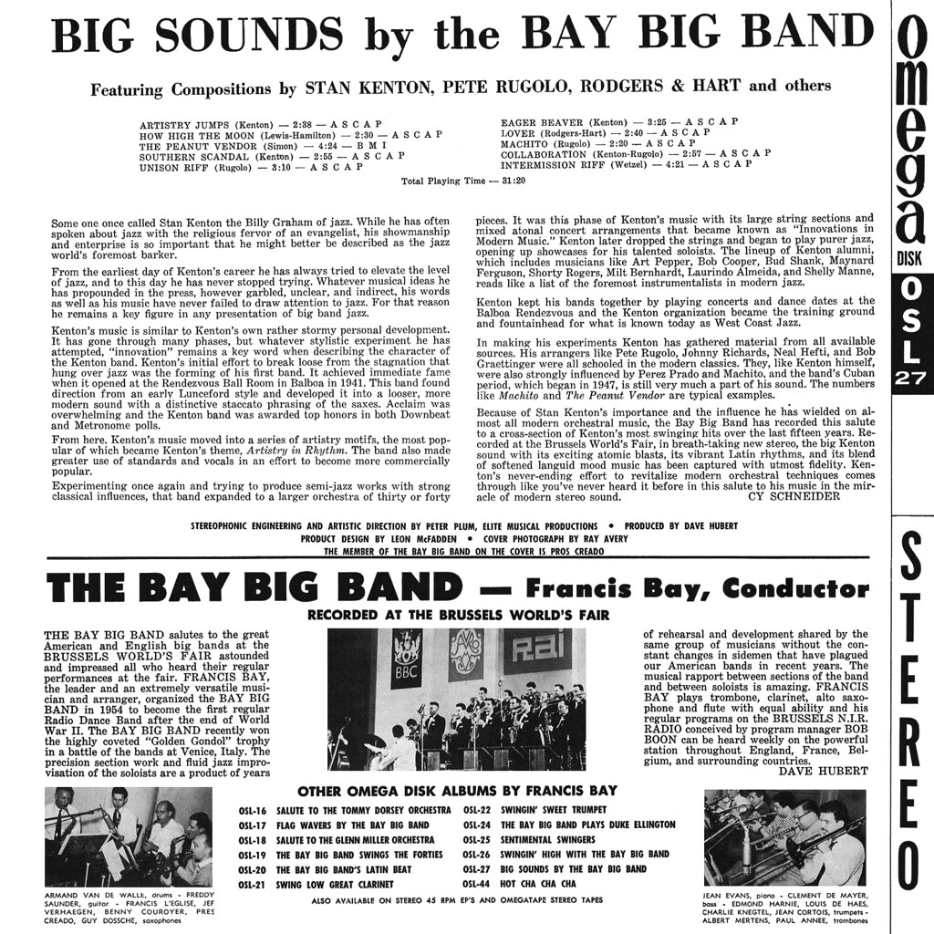 The Bay Big Band ‎– Big Sounds By The Bay Big Band